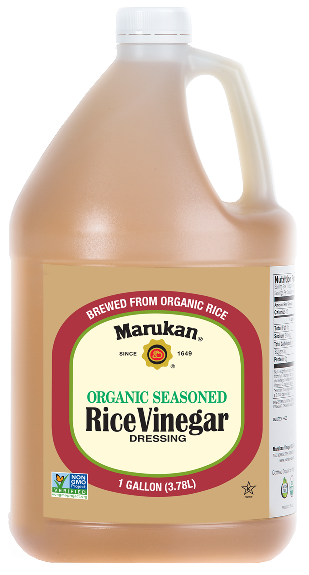 Bottle of Organic Seasoned Rice Vinegar Dressing