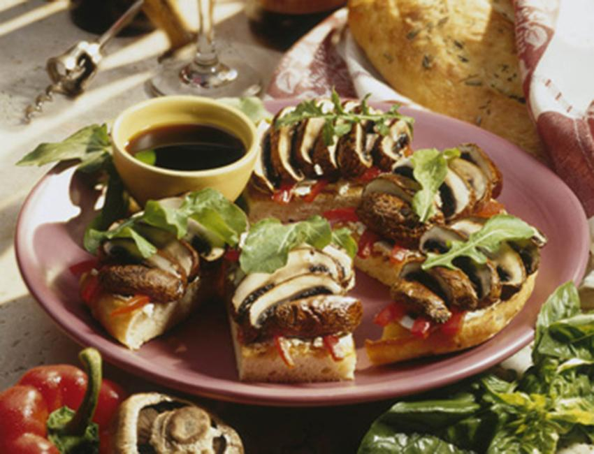 Marukan Grilled Marinated Portabello Mushroom on Focaccia
