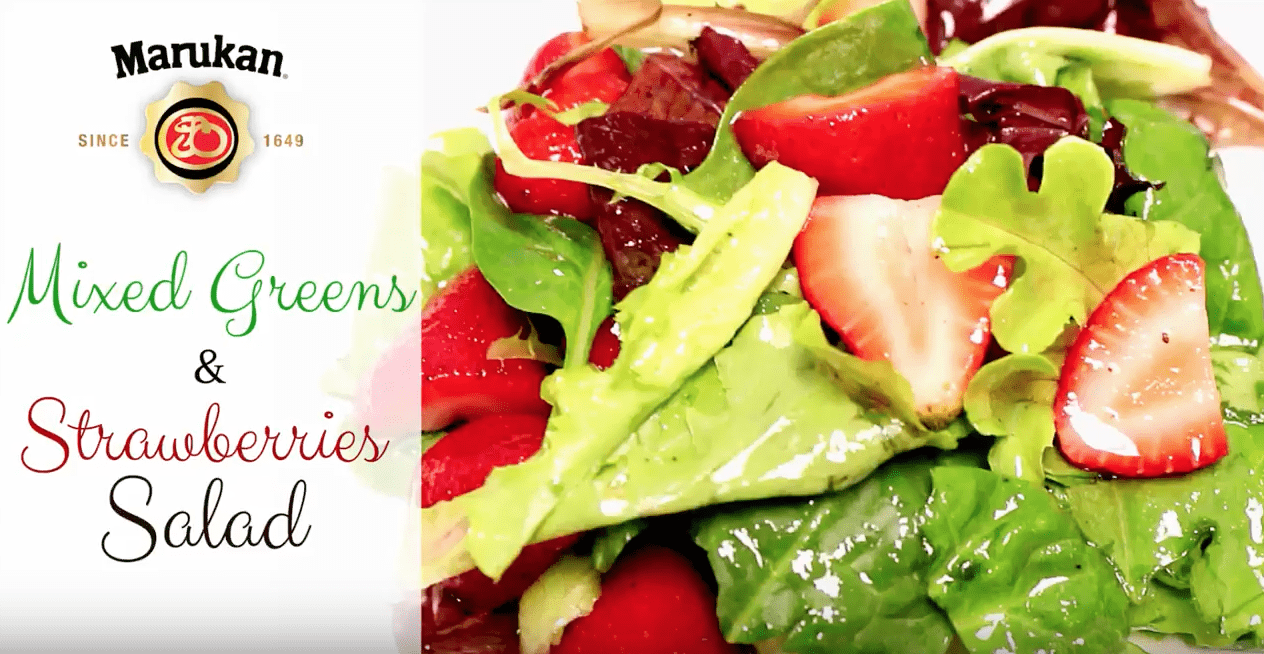 Marukan Mixed Greens & Strawberry Salad Recipe