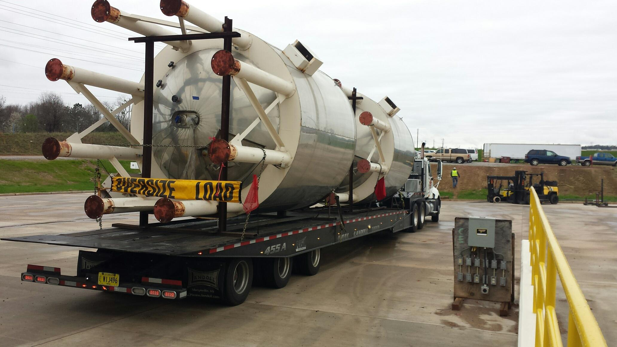 Sake Tanks Arrive at New Griffin, GA Brewery