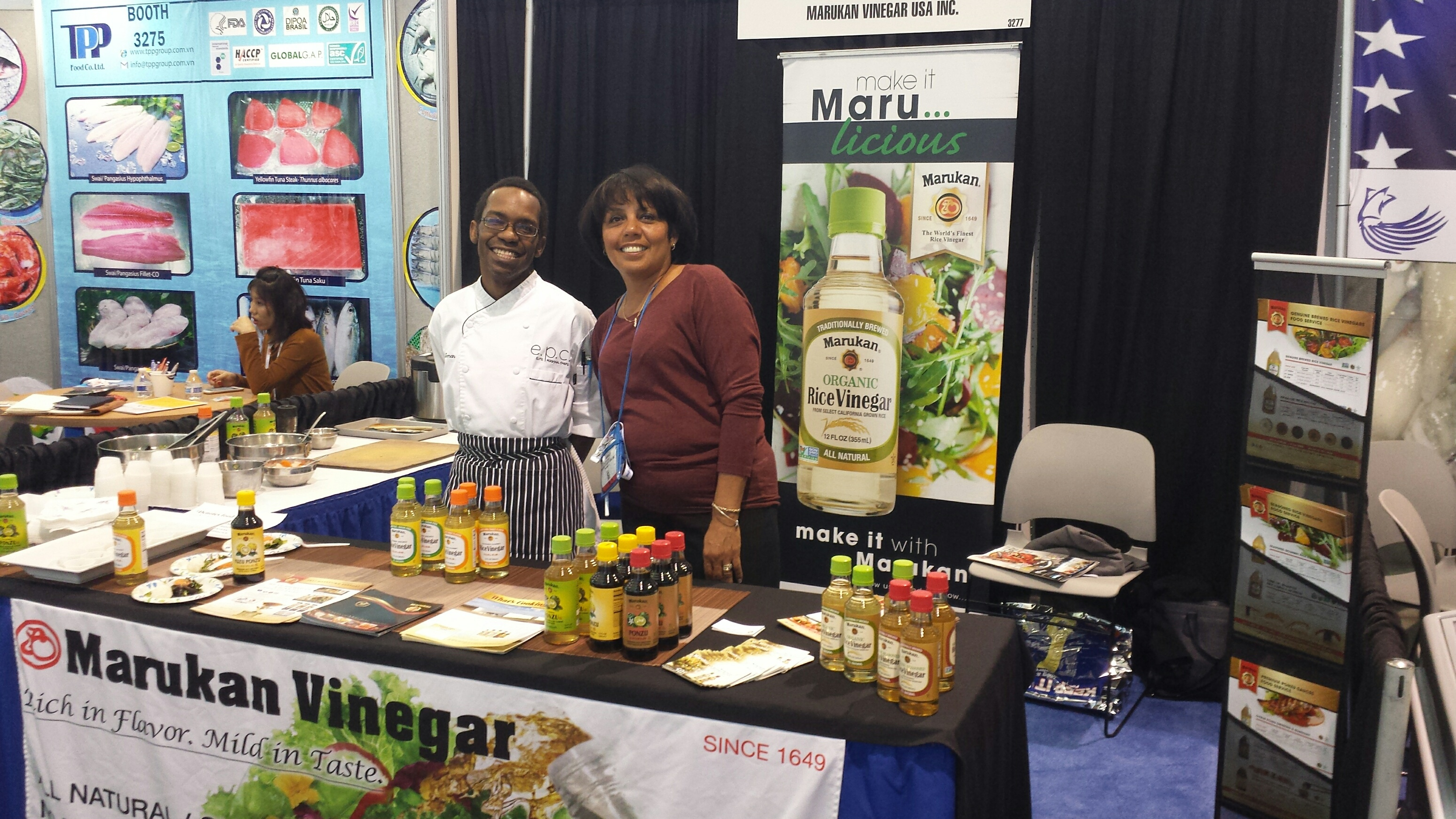 Ceviche and Salad Dishes Featured by Marukan at the Seafood Expo North America