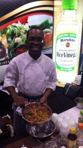 Chef Turman Prepares an Incredible Salad at Summer Fancy Food Show in NYC