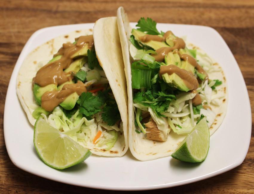 Marukan Thai Chicken Tacos