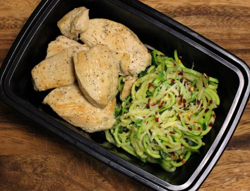 Marukan Garlic Chicken and Zoodles Meal Prep