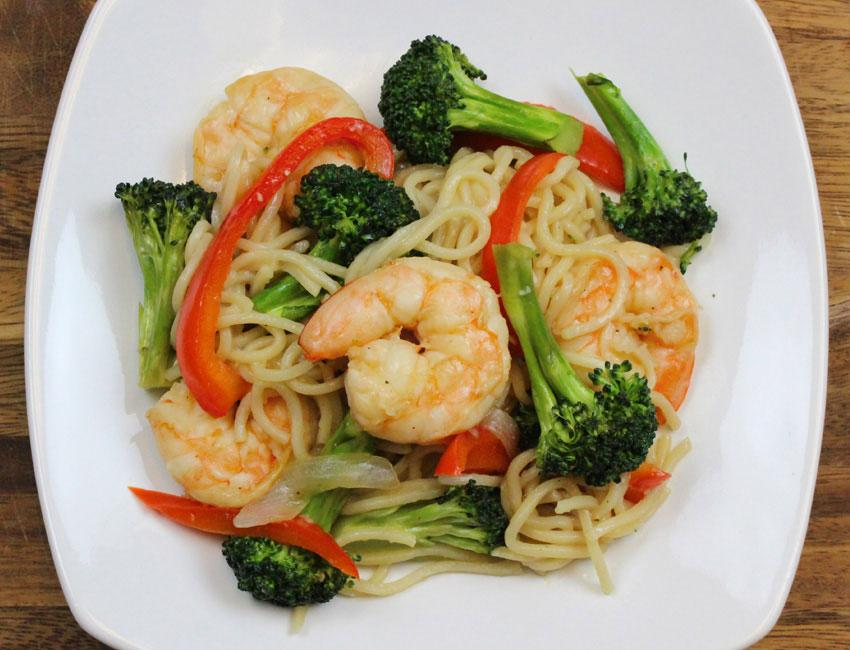 Marukan Shrimp and Vegetable Noodle Stir Fry