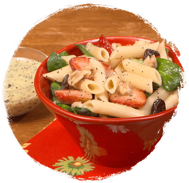 Summer Pasta Salad with Orange Poppy Seed Dressing