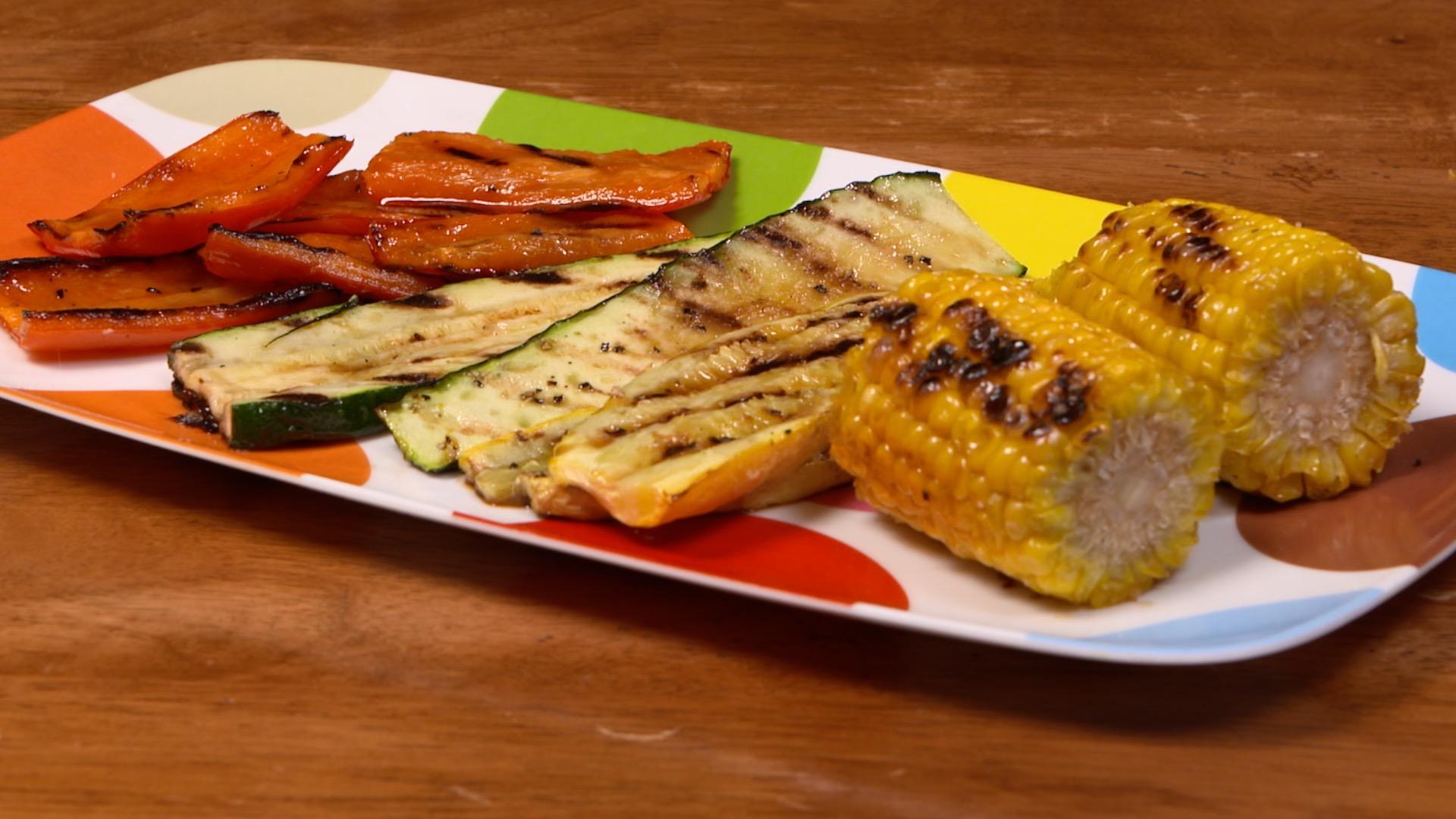 Ponzu Glazed Grilled Vegetables