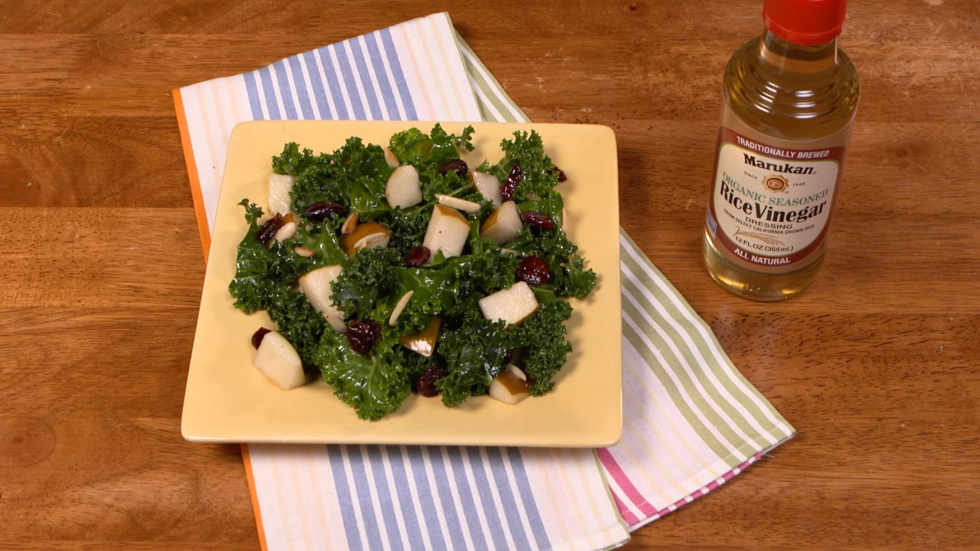 Torn Kale Salad with Jammin' Rice Vinaigrette