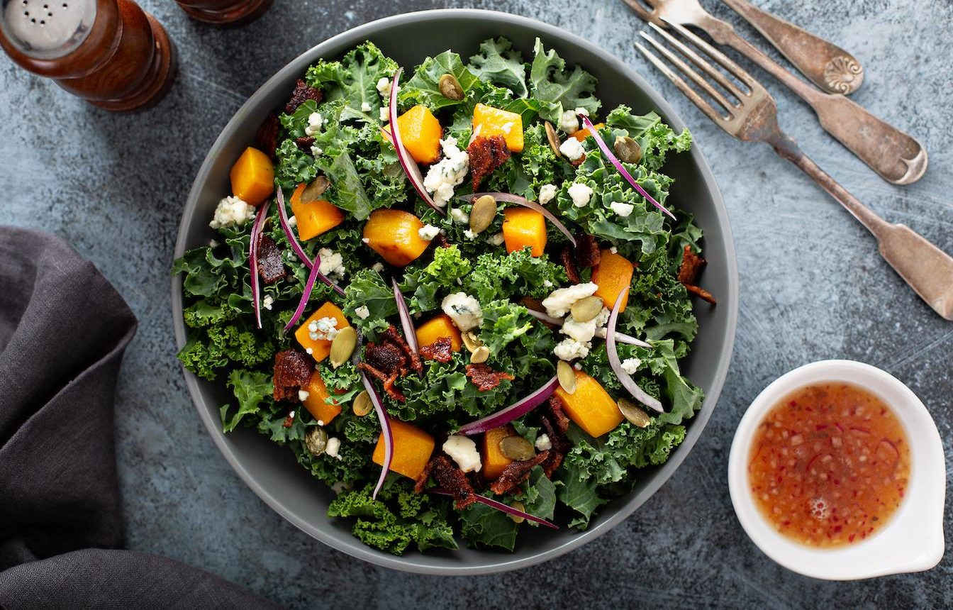 Marukan Roasted Pumpkin Salad with Apple Cider Vinegar Dressing
