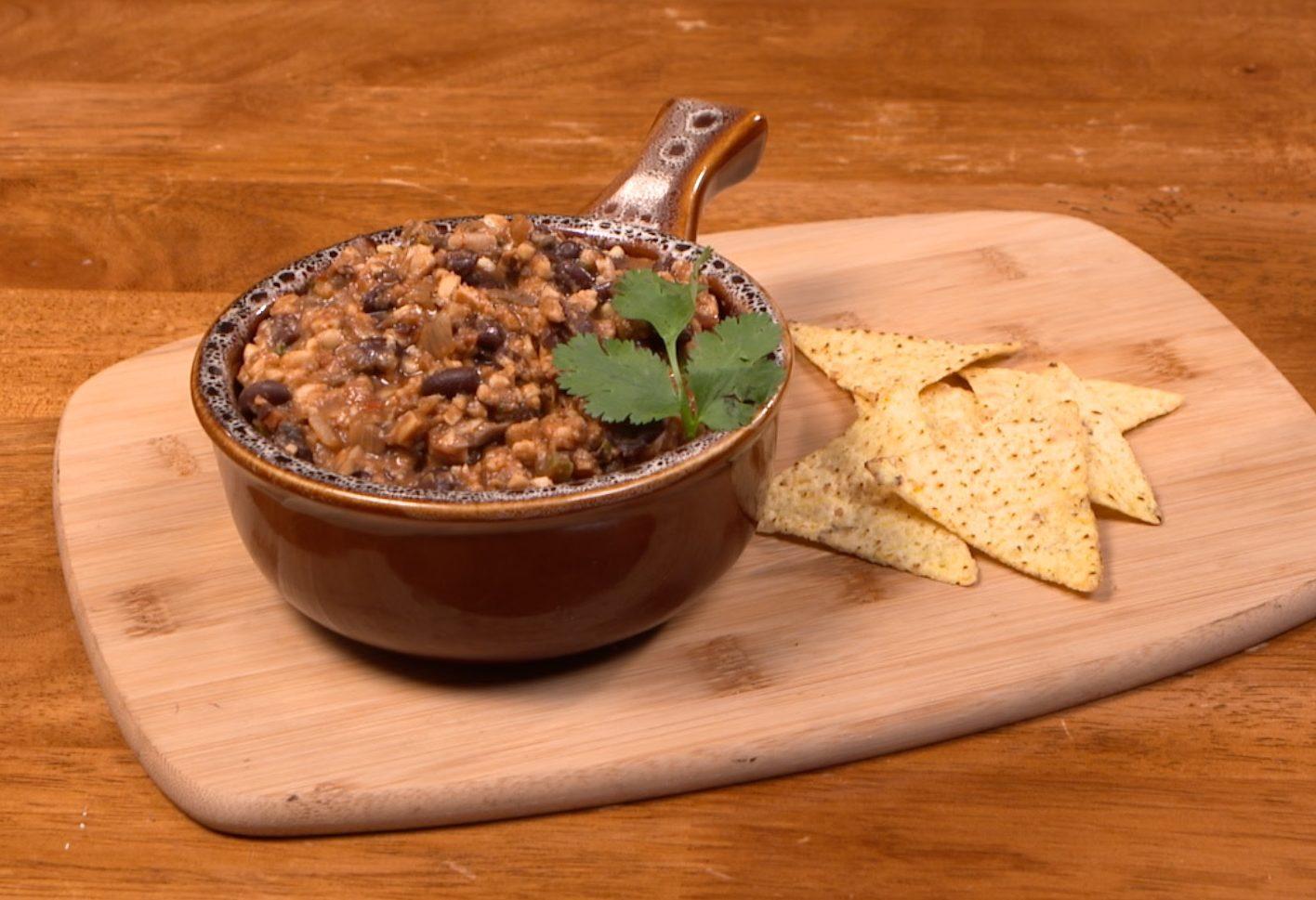 Tempeh and Black Bean Chili