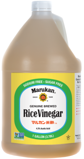 Bottle of Genuine Brewed Rice Vinegar