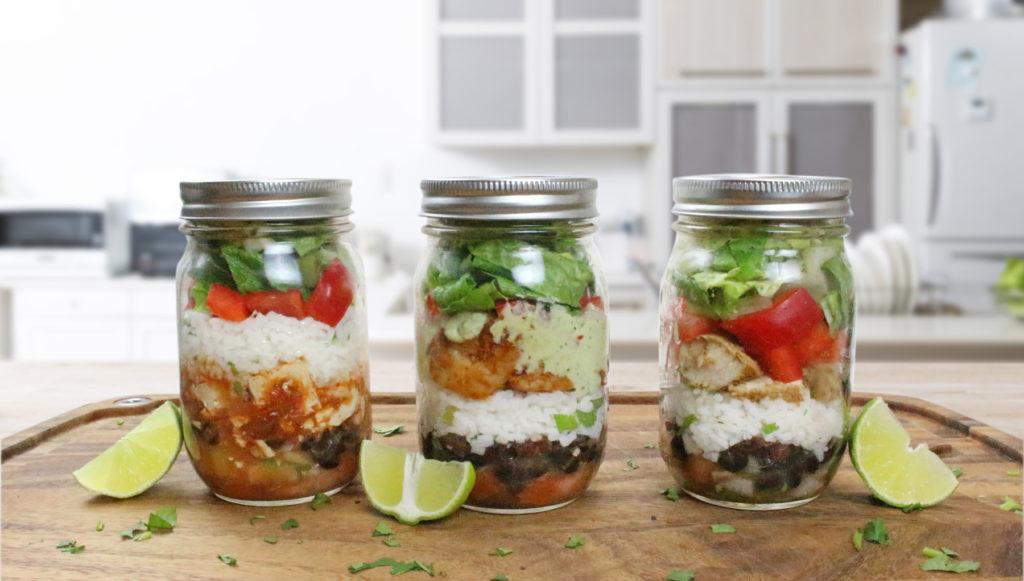 Marukan Mason Jar Burrito Bowls