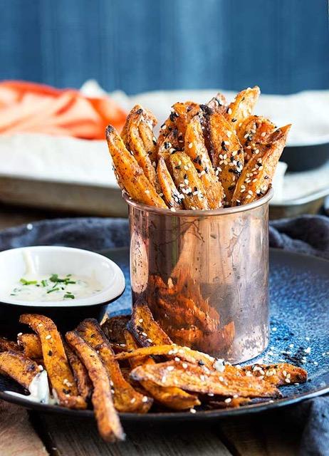 Asian-Style Sweet Potato Fries with Ponzu Aioli