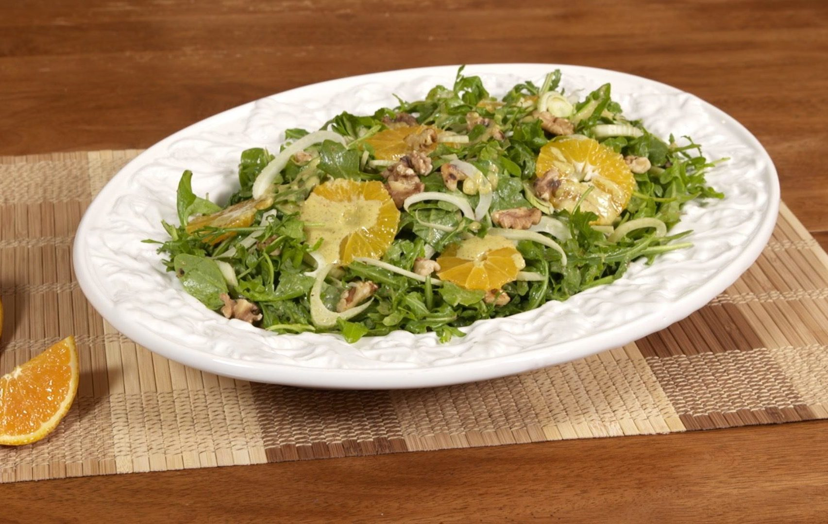 Marukan Fennel and Arugula Salad with Orange Vinaigrette