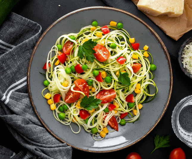 Marukan Zoodles and Tomato Salad