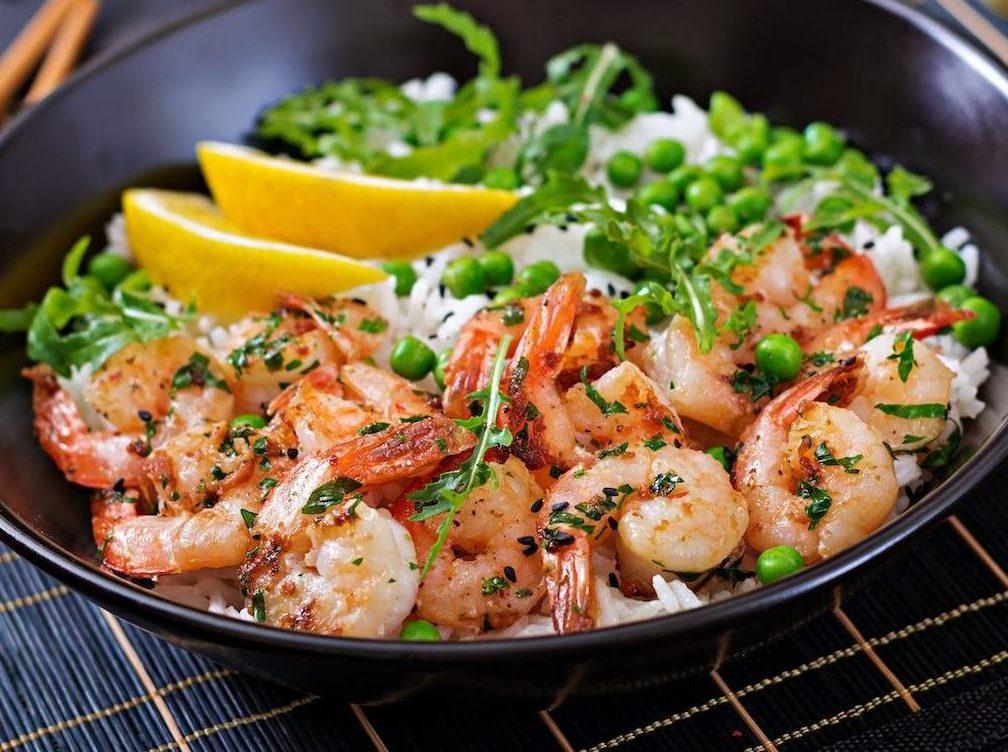 Marukan Garlic Shrimp Bowls