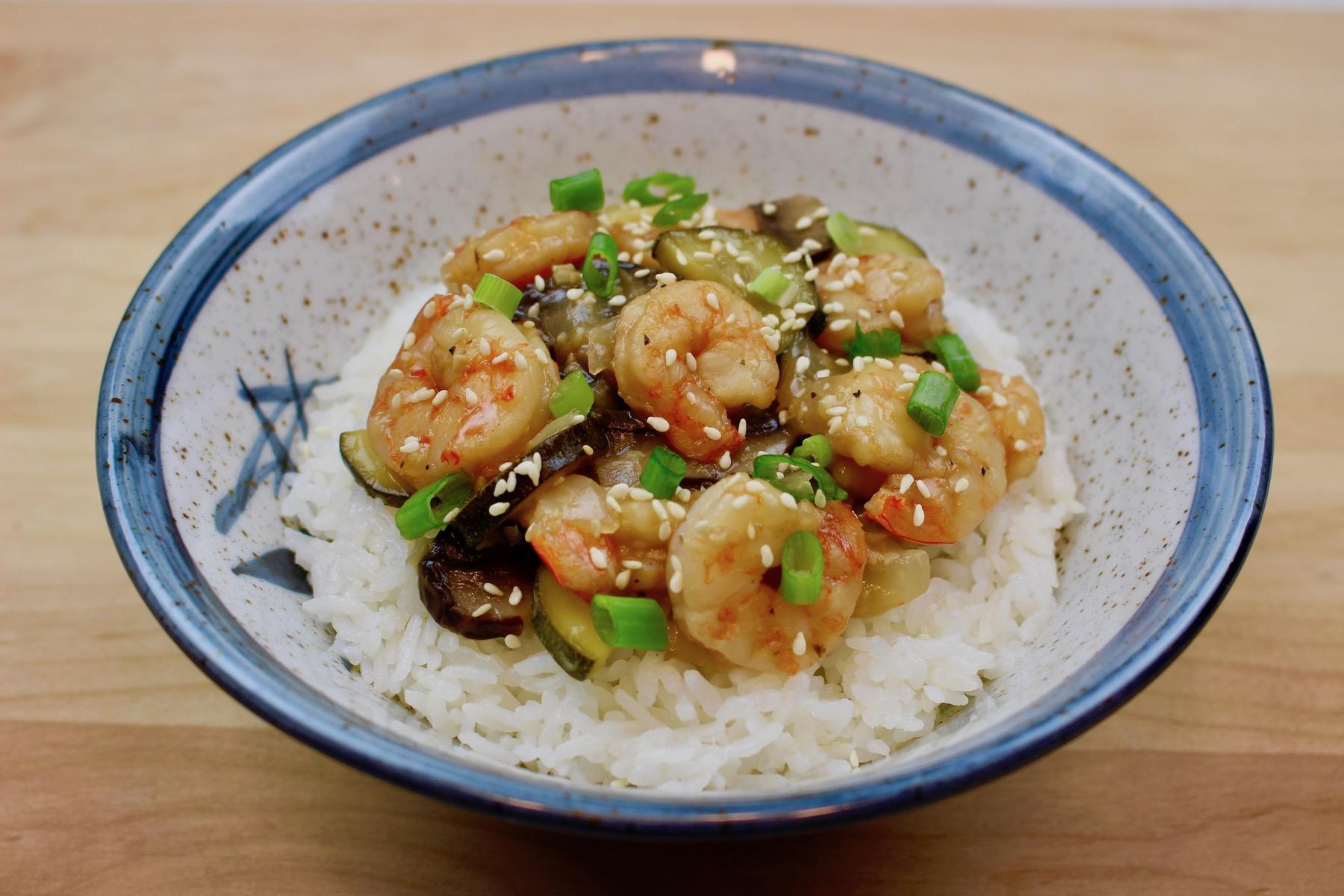 Marukan Instant Pot Hibachi Shrimp Bowls