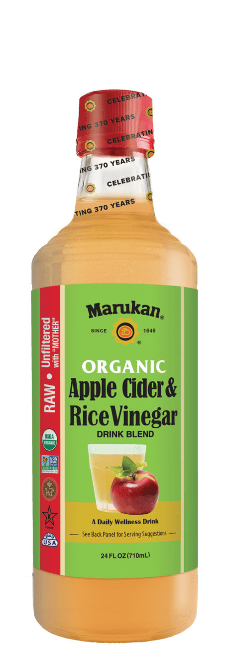 Bottle of Organic Apple Cider & Rice Vinegar Drink Blend