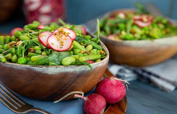 Marukan Spring Pea and Asparagus Salad