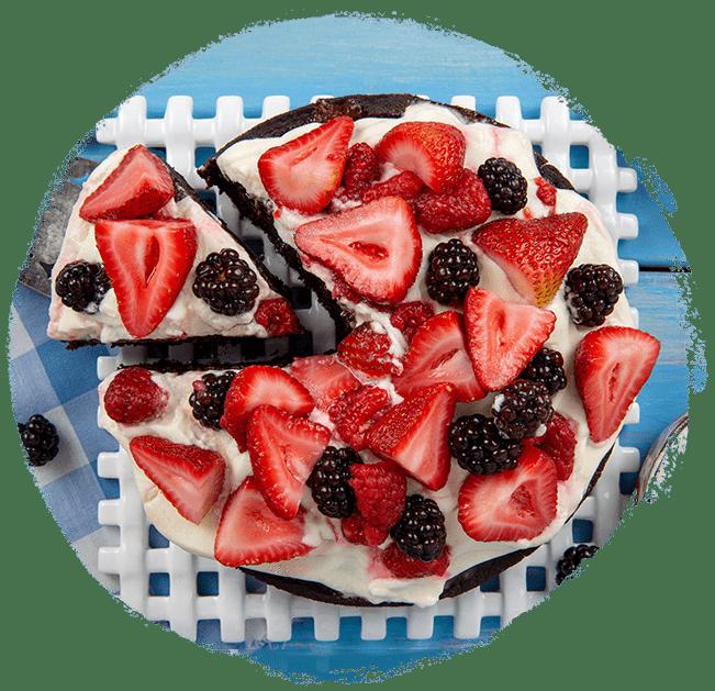 Marukan Chocolate Cake with Berries
